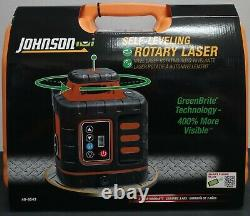 (105091) Johnson Self-Leveling Rotary Laser 40-6543 New In Case