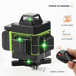 12/16 Lines Green Beam Laser Level Kit Self Leveling 360 Rotary Measure + Tripod