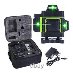 12/16 Lines Green Laser Level 360° Rotary Self Leveling Cross Measure Tool Set