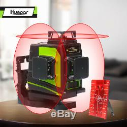 12 Lines 3D Rotary laser level self leveling 3 x 360 Degree Vertical Horizontal