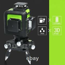 12 Lines 903CG Rotary Laser Level Green Cross Line Laser Self Leveling 45M 147ft