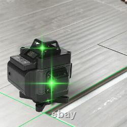 16 Line 4D Laser Level Green Light Self Leveling 360° Rotary Measuring Tool