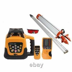 360° Automatic Self-Leveling Red Beam Rotary Laser Level 500M +1.65M Tripod