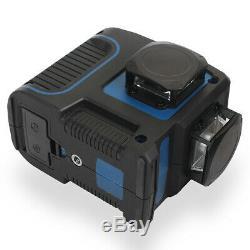 360° Rotary Laser 12Line 3D Laser Level Self-Leveling Cross-Line Laser WithCharger