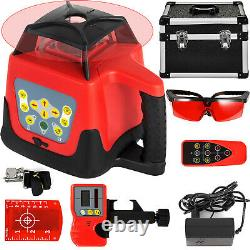 360 Rotary Laser Leveling Device 500m Range Red Beam Self-Leveling Waterproof