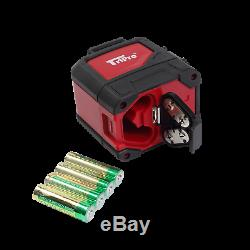 3D 360° Plane & Line Auto-Level Red Rotary Cross Laser TriPro Receiver Detector