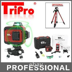 3D 3X 360° Self Auto Leveling Rotary Green Laser Level Tripod Receiver Detector