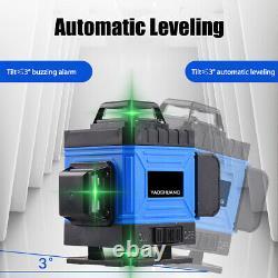 3D 8/12/16 Line 360° Rotary Measure Cross Green Laser Level Self Leveling