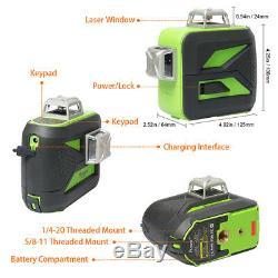 3D Cross Line rotary laser level green Cross Line Laser Self Leveling 603CG 40M
