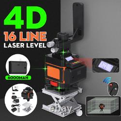3D Laser Level 16/12 Line LED Display 360° Rotary Self Leveling Measure US