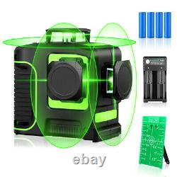 3D Rotary 12 Lines Green Laser Level Tool Measure Self-leveling For Construction