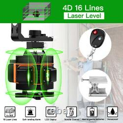 4D 16 Line Laser Level Auto Self Leveling 360° Rotary Measure + 59 Tripod Tool