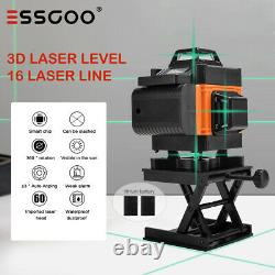 4D 16 Lines Green Laser Level Auto Self Leveling 360° Rotary Cross Measure Tool