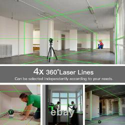 4D 16 Lines Green Laser Level Auto Self Leveling Rotary Cross Measure With Case