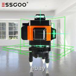 4D 16 Lines Green Laser Level DIY Cross Line Self Leveling 360 Rotary Measure US