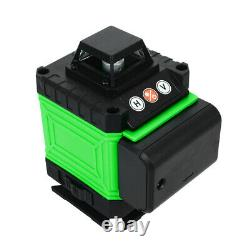 4D 360° 16 Line Green Laser Level Auto Self Leveling Rotary Cross Measure Tool