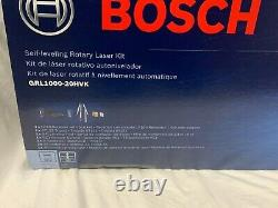 Bosch GRL1000-20HVK Self Leveling 1000ft Rotary Laser Kit missing Receiver #A192
