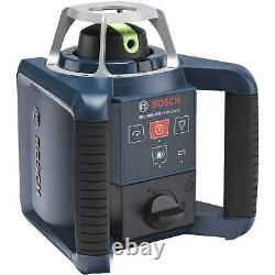 Bosch GRL 300 HVG Green Beam Self-Leveling Rotary Laser Kit with LR1G Receiver