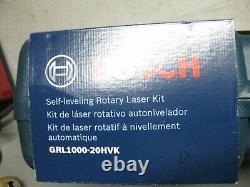 Brand New! Bosch GRL1000-20HVK Self-Leveling Rotary Laser System