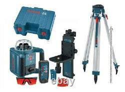 Brand New Bosch GRL 300 HVD Rotary Laser with Receiver, Tripod and 8ft Rod