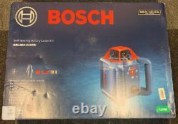 Brand New Factory Sealed Bosch GRL80020HVK Self Leveling 800ft Rotary Laser Kit