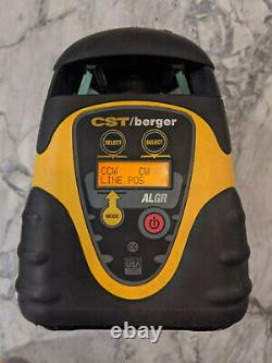 CST/Berger ALGR Self Leveling Horizontal + Vert Rotary Laser with Remote & receive