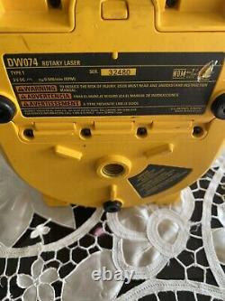 DEWALT DW074 100ft Self Leveling Interior/Exterior Rotary Laser Only