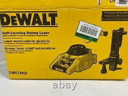 DeWALT DW074KD Interior & Exterior Self Leveling Rotary Laser with Accessories NEW