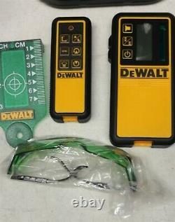 Dewalt 20 Volt Green Self-Leveling Rotary Laser Kit Complete With Hardcase