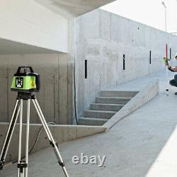 Electronic Self-Leveling Green Rotary Laser Level Kit Laser Level + Receiver