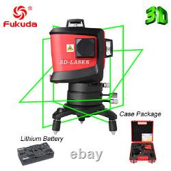 Fukuda 12Lines 3D Laser Level self leveling rotary +outdoor receiver