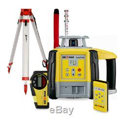 Geomax 6013520 Zone20H Self-Leveling Horizontal Rotary Laser WithTripod & 14' Rod