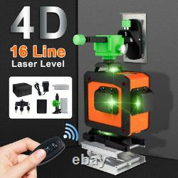 Green Laser Level 12/16 Lines 360° Auto Self Leveling Rotary Cross Measure Tool