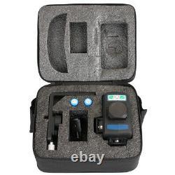 HANMER LV3D 360° Rotary 12 Line Laser Level Green Beam Cross Laser Self Leveling