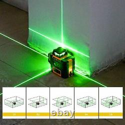 Home 3D Rotary Laser Level Green Cross Line Laser Self Leveling DIY Layout Tool