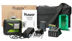 Huepar 360 Degree Rotary Laser Level Red Cross Line Laser Self Leveling 3 circle