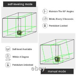 Huepar 3D Cross Line rotary laser level green Cross Line Laser Self Leveling 40M