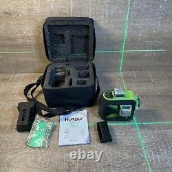 Huepar 3D Green Rotary Laser Level Cross Line Self Leveling Professional Tool
