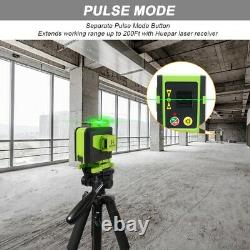 Huepar 4D 16 Lines Green Laser Level Auto Self Leveling 360 Rotary Cross Measure