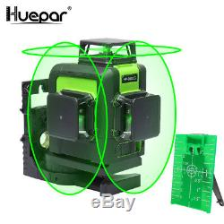 Huepar 903CG rotary laser level green Cross Line Laser Self Leveling 45m 147ft