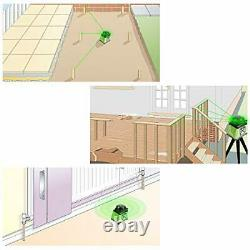 Huepar Electronic Self-Leveling Green Rotary Laser Level Kit -Horizontal&Vertica