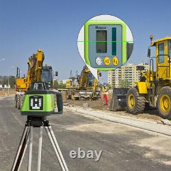Huepar Electronic Self-Leveling Green Rotary Laser Level Kit Up &Down Plumb Dots