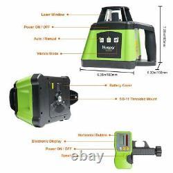 Huepar Electronic Self-Leveling Rotary Laser Level Kit -360 Horizontal Laser