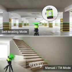 Huepar Rotary 3D Cross Line Self Leveling Laser Level Green Beam 3360 12 lines