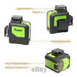 Huepar rotary laser level green Cross Line Laser Self Leveling 903CG 45m 147ft