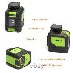Huepar rotary laser level green Cross Line Laser Self Leveling Horizon Vertical