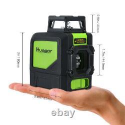 Huepar rotary laser level green Cross Line Laser Self Leveling Laser + Receiver
