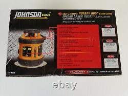 Johnson 40-6515 Self-Leveling Rotary 800 Laser Level. (New in Box)