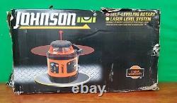 Johnson 40-6517 Self-Leveling Rotary Laser Level System NO MEASURING STICK