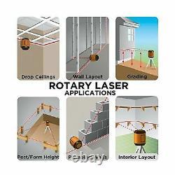 Johnson 99006K Self Leveling Rotary Laser System Kit Tripod Mounting Bracket New